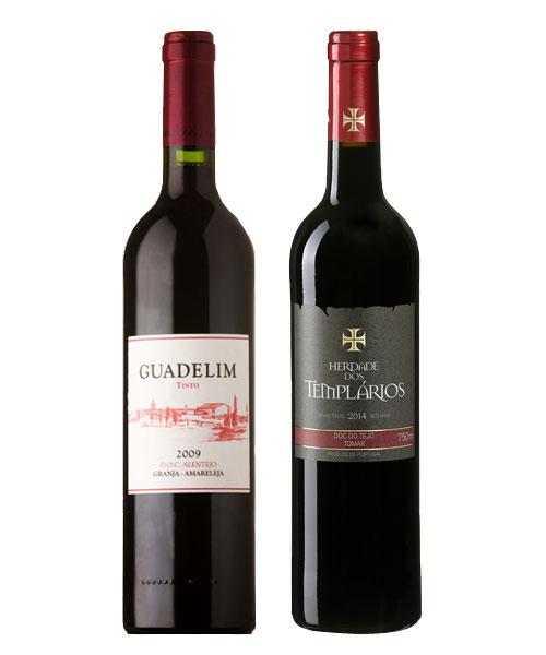 Vinho Tinto - Guadelim e Herdade dos Templários